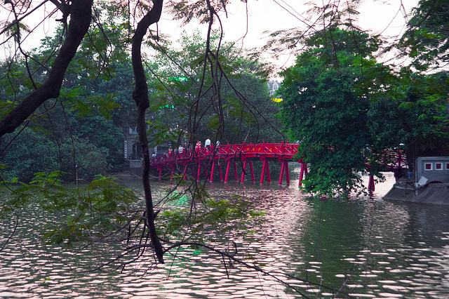 Hoan Kiem Lake in center of Hanoi