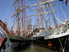 """Tall ships """"Pogoria"""" (Poland, 1980) and """"Lord Nelson"""" (United Kingdom, 1986)."""