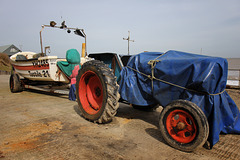 Mundesley tractor and boat