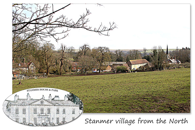 Stanmer village from the North - 1.4.2016