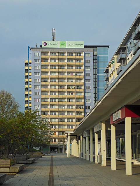 Chemnitz, Hochhaus am Rosenhof