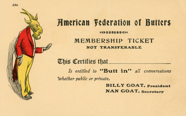 American Federation of Butters Membership Ticket