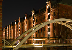 Brücke in der Speicherstadt (warehouse district) - Hamburg