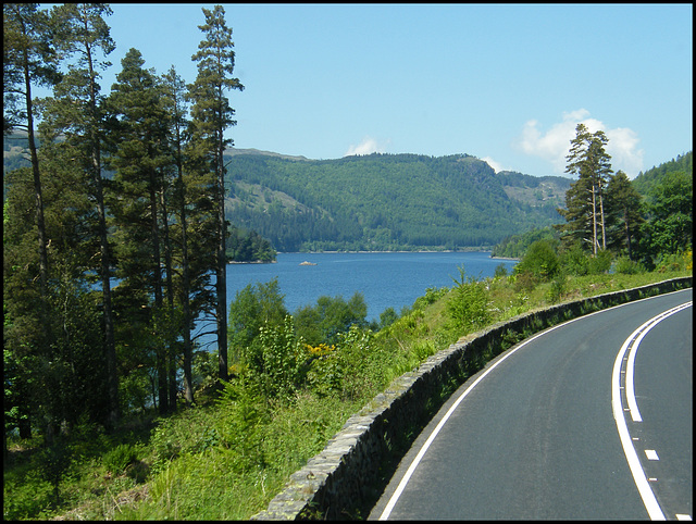road by the lake