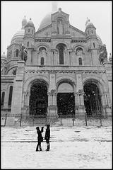 Montmartre sous la neige (II)