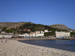A view to North Parade and the Great Orme.