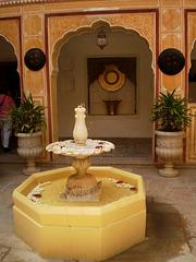 Fountain in the yard.