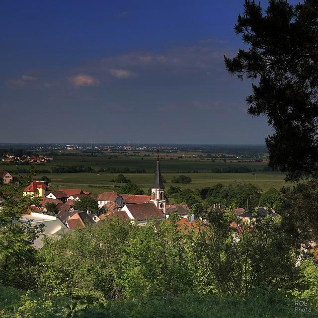 L'Alsace en couleurs, au soleil couchant