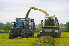 Getting the silage in