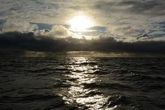 Midnight Sun above Barents Sea