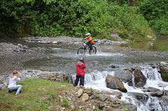Bolivia, North Yungas Road (Death Road), Crossing the Stream