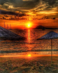 Sunset on Bodrum bay