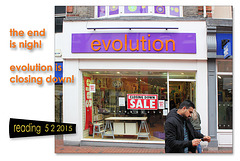 evolution is closing down - Reading - 6.2.2015