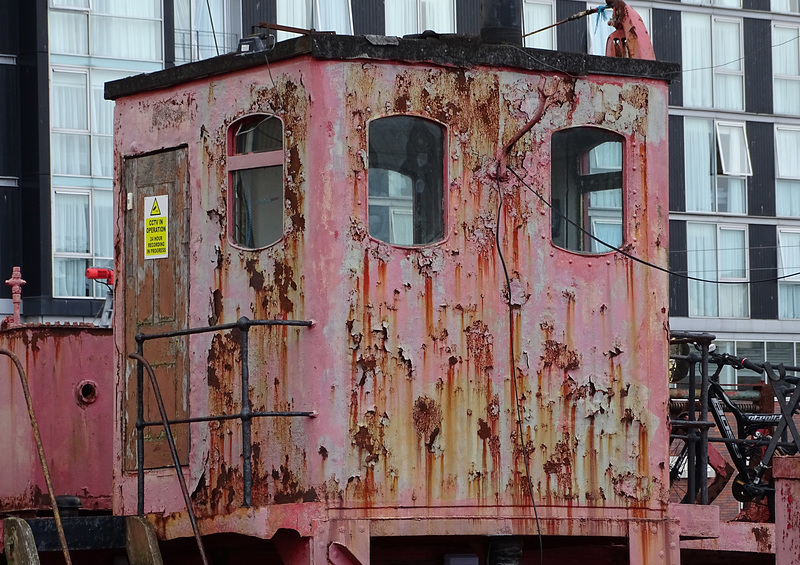 Nort Carr lightship  surface rust