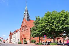 Krakow, Marktplatz mit Stadtkirche