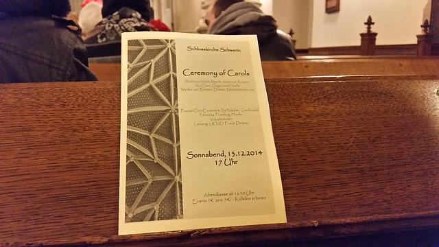 program for the consert on Lucia