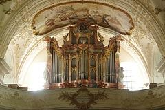 Wisset Sie, mir habet da oi privats Orgelkonzert gebucht, da könnet Sie ned oifach zuhöre......