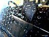 Raindrops on Windscreen.