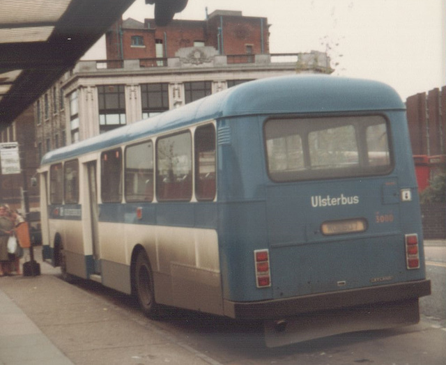 Ulsterbus WOI 607 in Ipswich - 18 Nov 1983