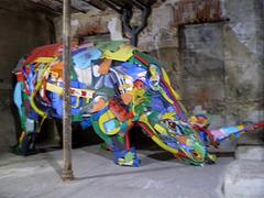 Rhinoceros, by Bordalo II.
