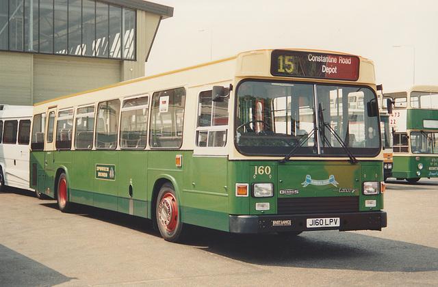 Ipswich Buses J160 LPV - 23 May 1992