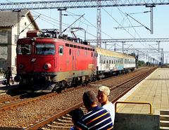 Arrival of the train in Nova Pazova station