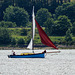 Yacht on the River Clyde