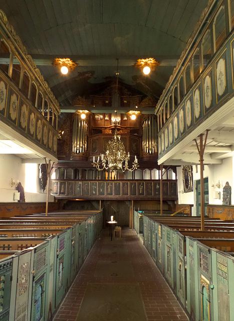 Innenraum von St. Nikolai in Borstel