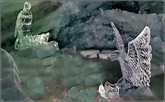 Zermatt : sculture di ghiaccio nel Matterhorn paradise