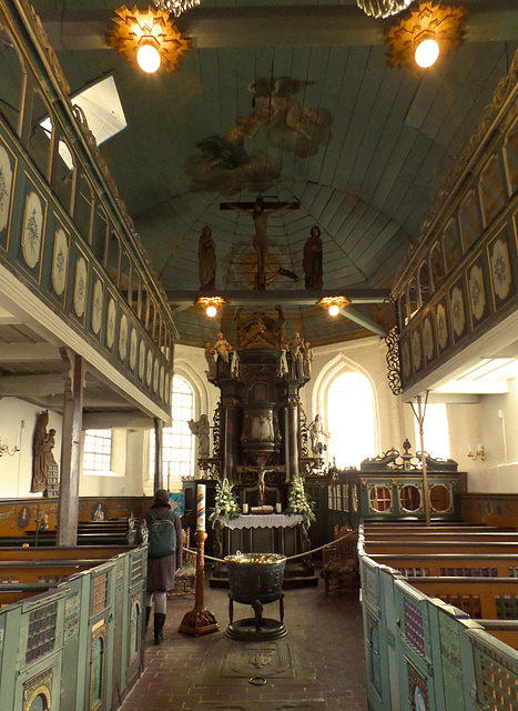Der Altar der Kirche St. Nikolai