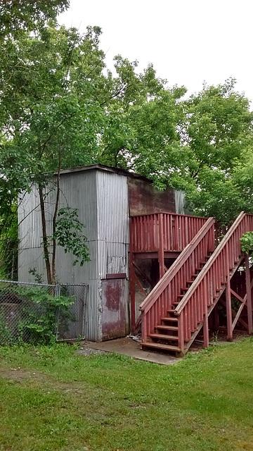 Vieux bâtiment de moulin ancien