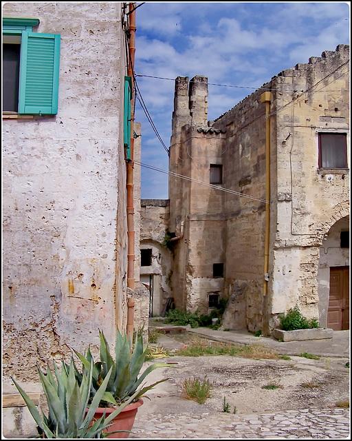 Matera : un particolare della vecchia città