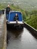 Boat crossing the Pontcysyllte Aqueduct.