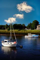Yacht on the River Leven
