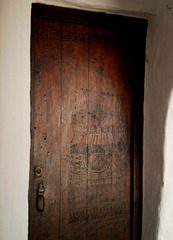 Apartment door at Binibeca Vell.
