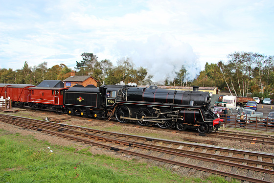 B.R Standard Class Five no 73156  departs Quorn and Woodhouse station