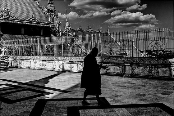 Silhouette Of A Monk