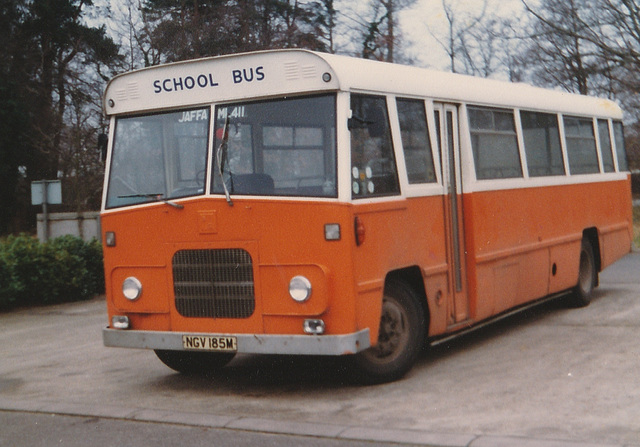 Suffolk County Council NGV 185M at Mildenhall - Jan 1983