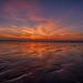 Sunset sur la mer du nord