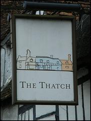 boring Thatch pub sign