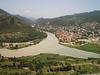 View to Mtskheta and rivers Kura and Aragvi.