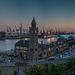 Blue Hour at the River - Blaue Stunde an der Elbe (225°)