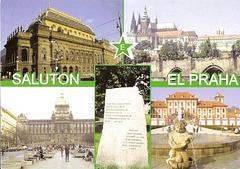 Saluton el Praha - bildkarto