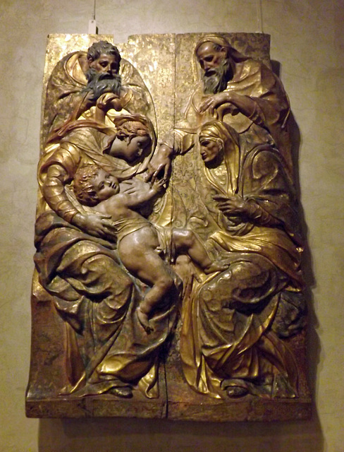 The Holy Family with Saints Anne and Joachim by Diego de Pesquera in the Metropolitan Museum of Art, February 2014