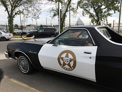 Sheriff Car with cow horn hood ornament