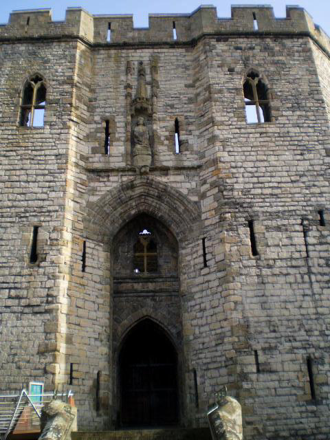 Main Gate of Caernarfon Castle.
