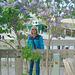 Joan Amongst the Lilacs
