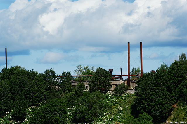 Blick von Narva nach Iwangorod/Russische Föderation (© Buelipix)