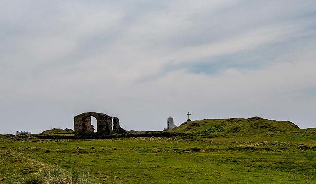 The ruined church of Saint Dwynwen, Ynys Llanddwyn, Anglesey