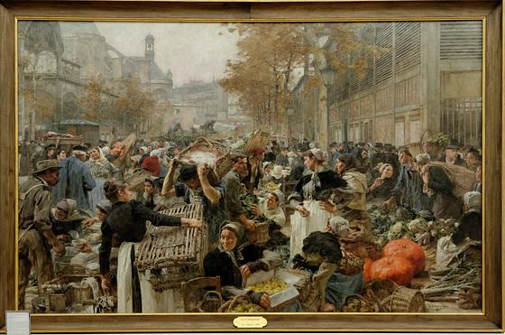 """""""Les Halles"""" - Léon Lhermitte (1895)"""